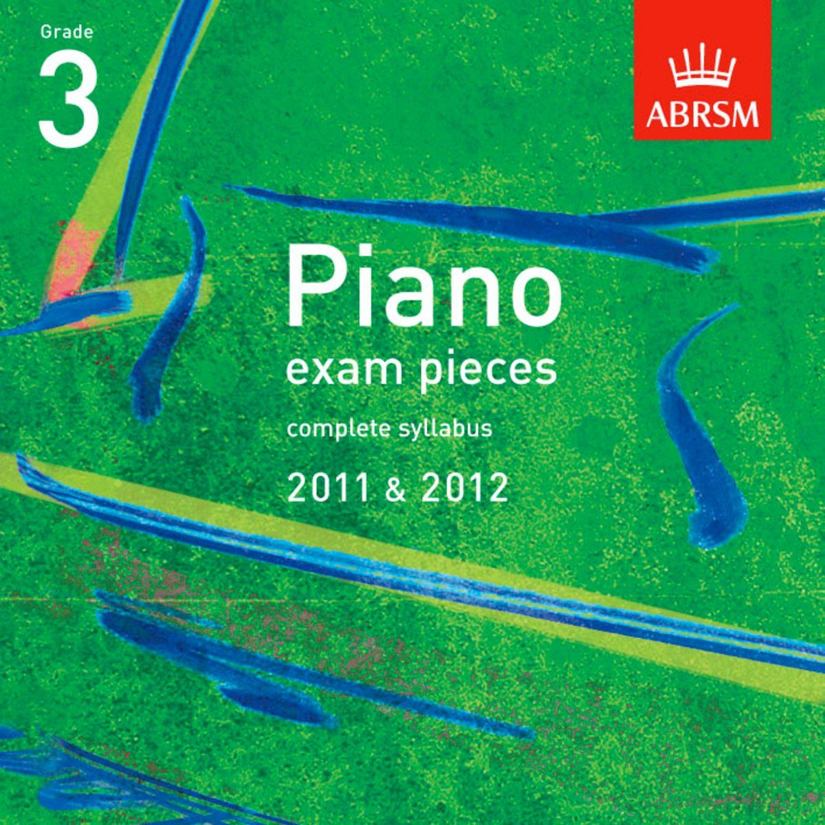 Piano Exam Pieces Grade 3 2011-2012 (CD)