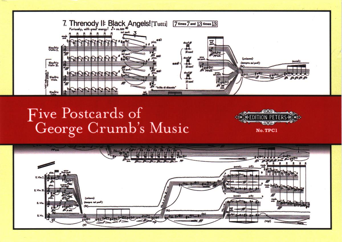 Five Postcards of George Crumb\'s Music