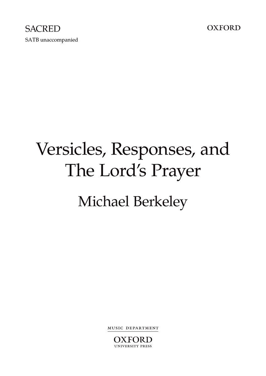 Versicles, Responses, and The Lord\'s Prayer