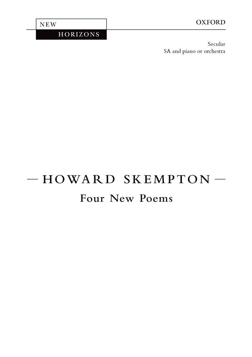 Four New Poems
