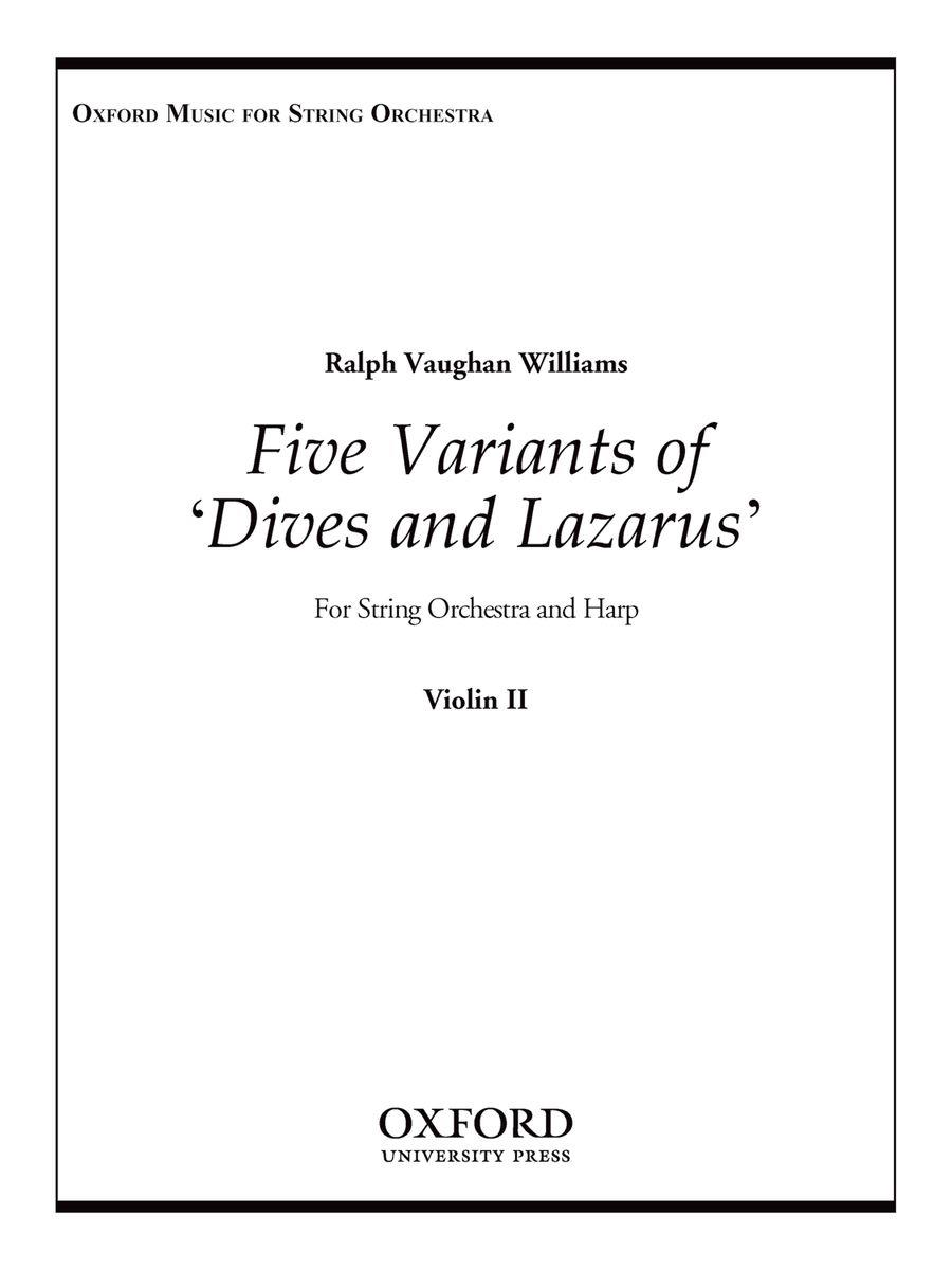 Five Variants on \'Dives and Lazarus\'