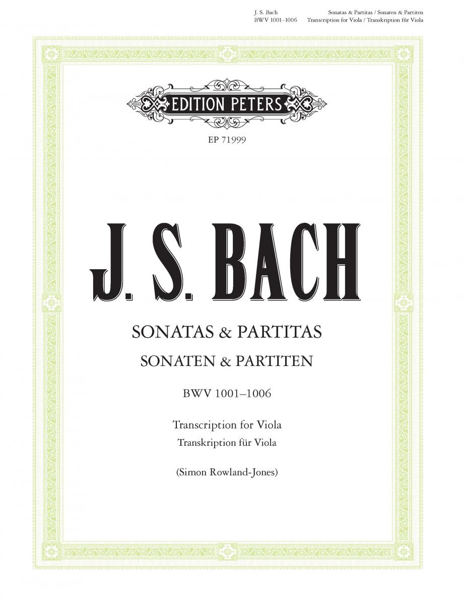 Sonatas & Partitas BWV 1001–1006, Transcription for Viola