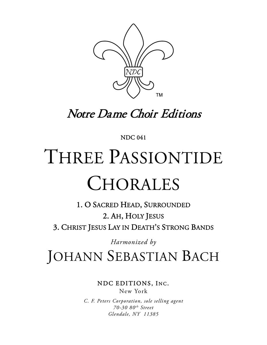 3 Passiontide Chorales
