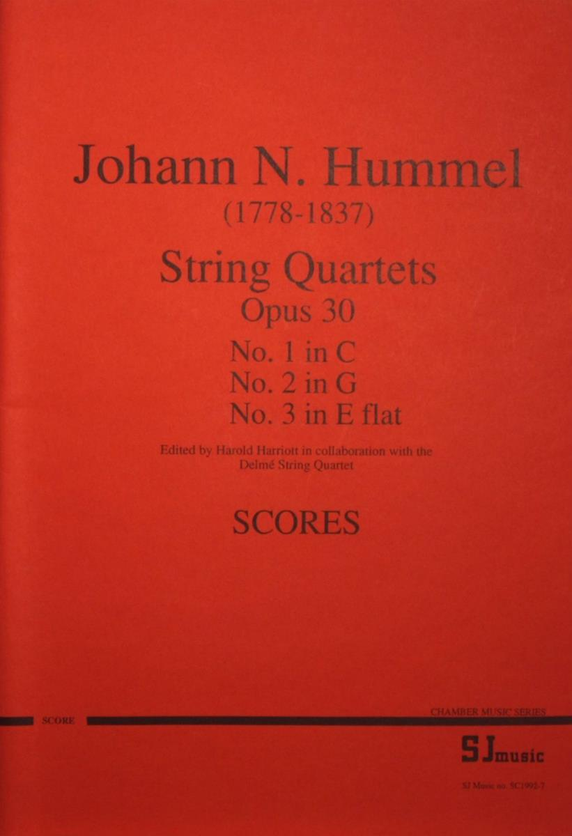 String Quartets, Opus 30 Numbers 1-3