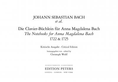 The Notebooks for Anna Magdalena Bach 1722 & 1725