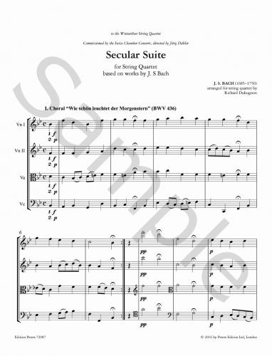 Secular Suite (based on works by J. S. Bach)