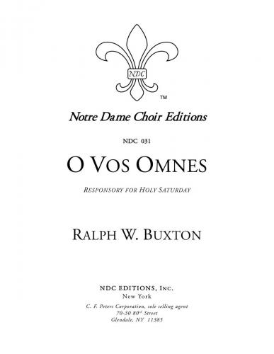 O vos omnes (Responsory for Holy Saturday)